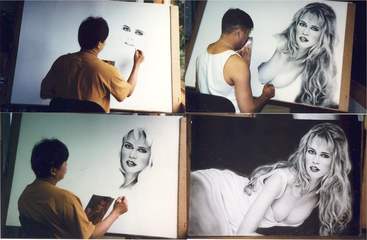 Here are 4 pictures of Claudia Schiffer