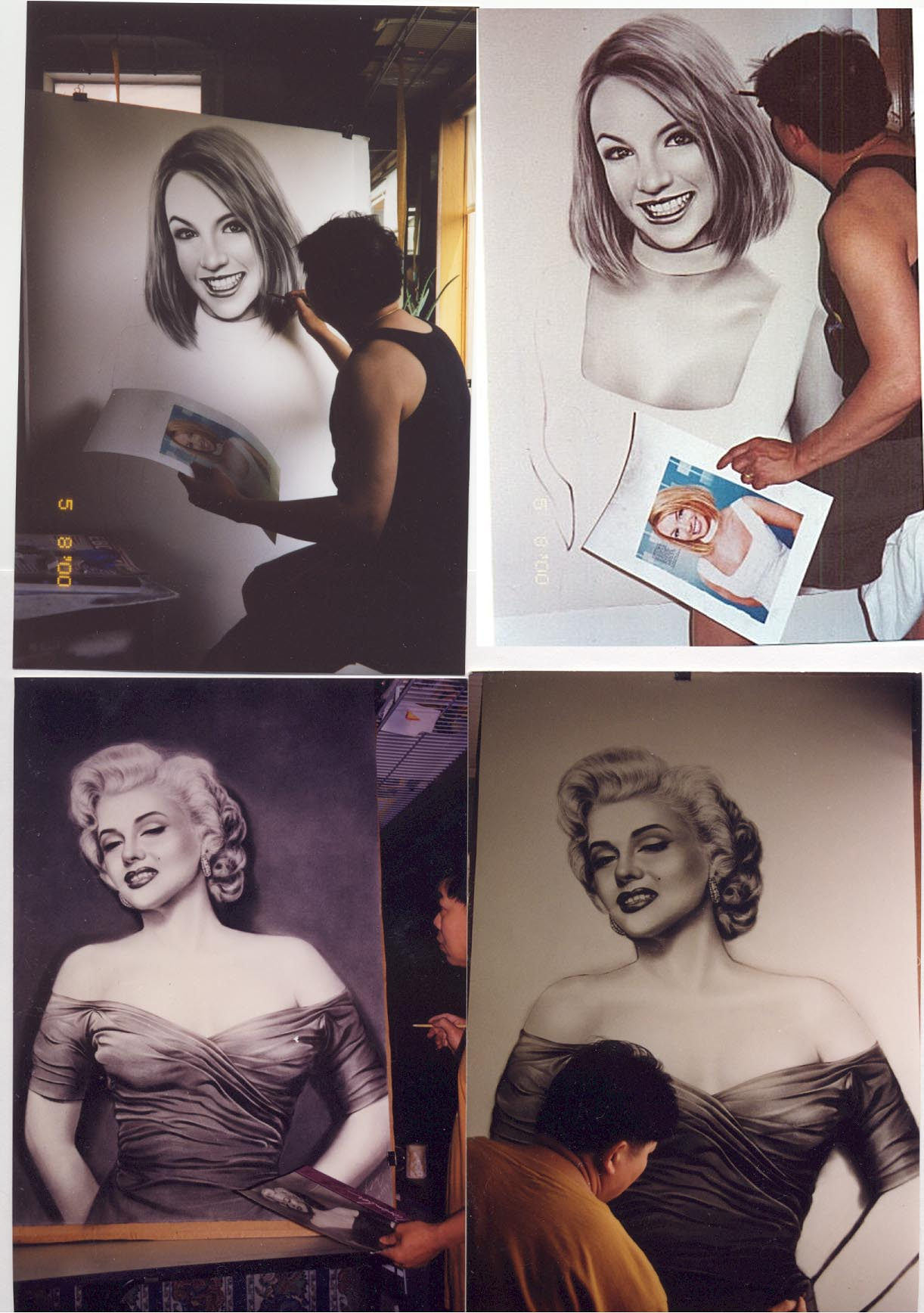 Britney Spears and Marilyn Monroe